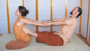A Thai massage session