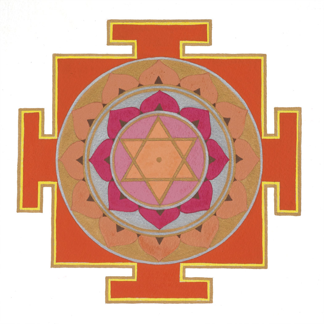 red yantra geometric design